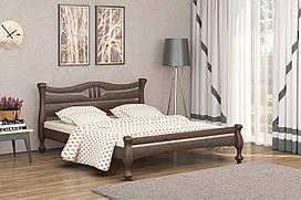 Двуспальная Кровать из дерева сосна 160*200 Кронос MECANO цвет Темный орех 14MKR011