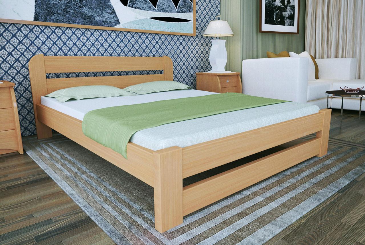 Двуспальная Кровать из дерева сосна 120*200 Престиж MECANO цвет Светлый орех 19MKR05