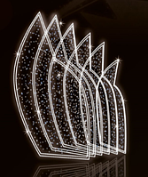 """3D светодиодная конструкция """"Новогодняя"""" 350X200cm"""