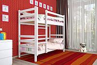 Двухъярусная кровать из дерева Сосна 90*200 Дуос Классик MECANO цвет Белый 11MKR015