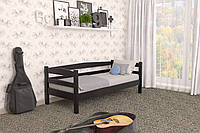 Кровать детская из натурального дерева сосна 90х190 Лёва MECANO цвет Венге 15MKR010
