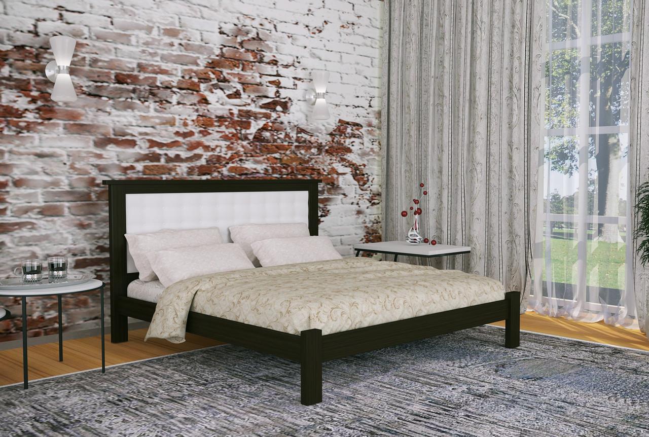 Двуспальная Кровать из дерева сосна 140*200 Дионис MECANO цвет Венге 10MKR014