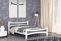 Двуспальная Кровать из дерева сосна 180*190 Деметра MECANO цвет Белый 9MKR021