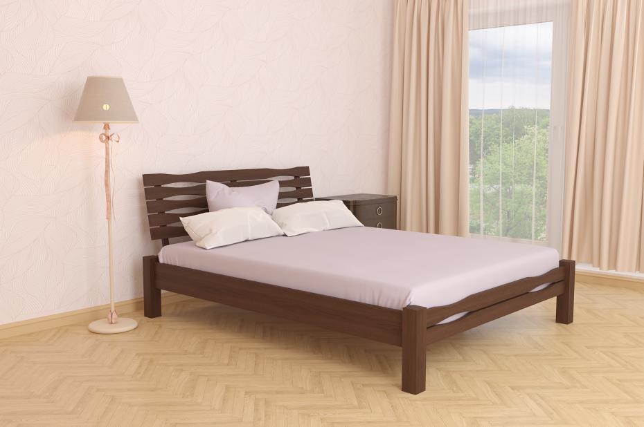 Двуспальная Кровать из дерева сосна 140*200 Веста MECANO цвет Темный орех 4MKR011