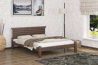 Двуспальная Кровать из дерева сосна 140*190 Гефест MECANO цвет Темный орех 7MKR09