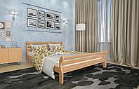 Кровать Двуспальная из дерева сосна 140*200 Аркадия MECANO цвет Светлый орех 3MKR04