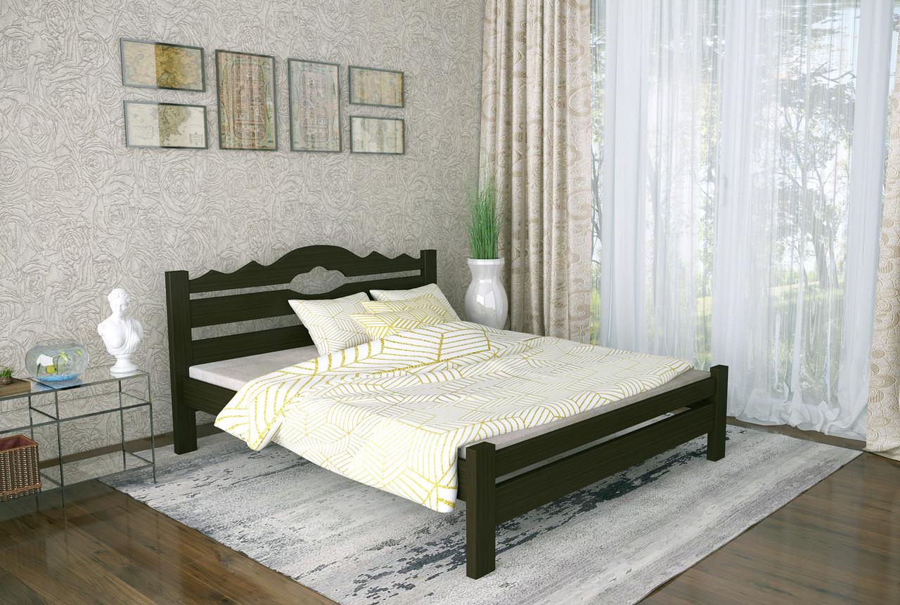 Двуспальная Кровать из дерева сосна 180*190 Тейя MECANO цвет Венге 21MKR023