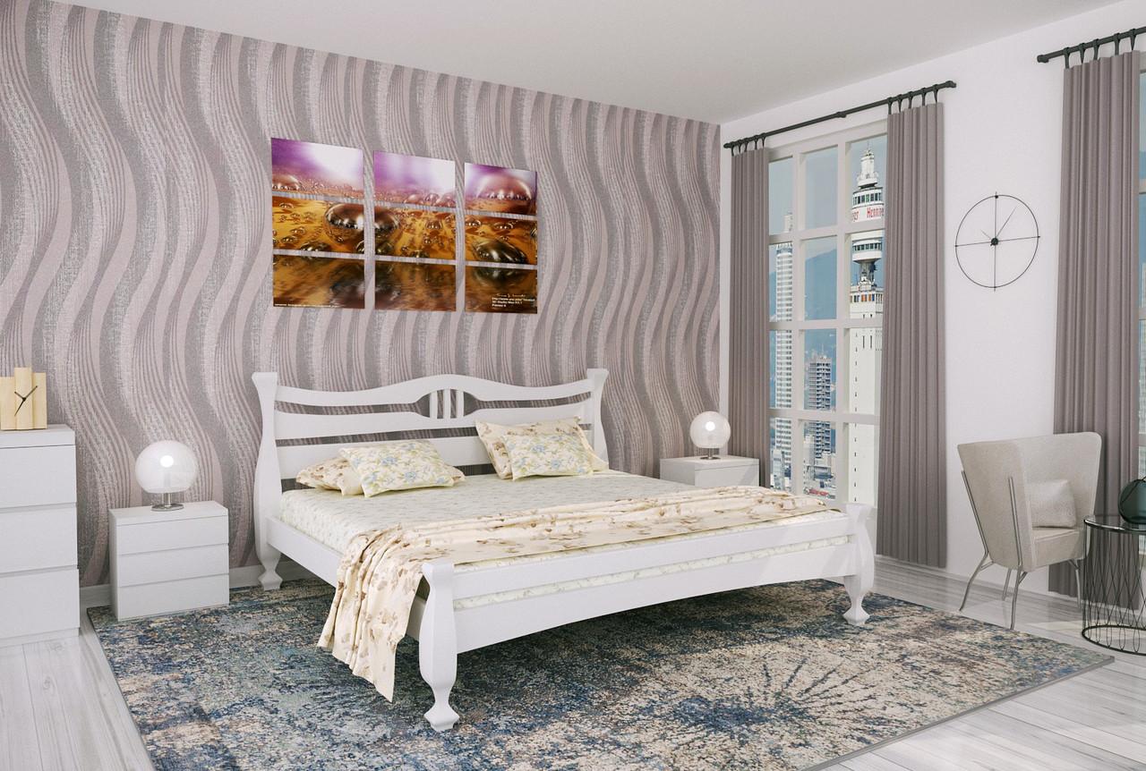 Двуспальная Кровать из дерева сосна 160*200 Кронос MECANO цвет Белый 14MKR034