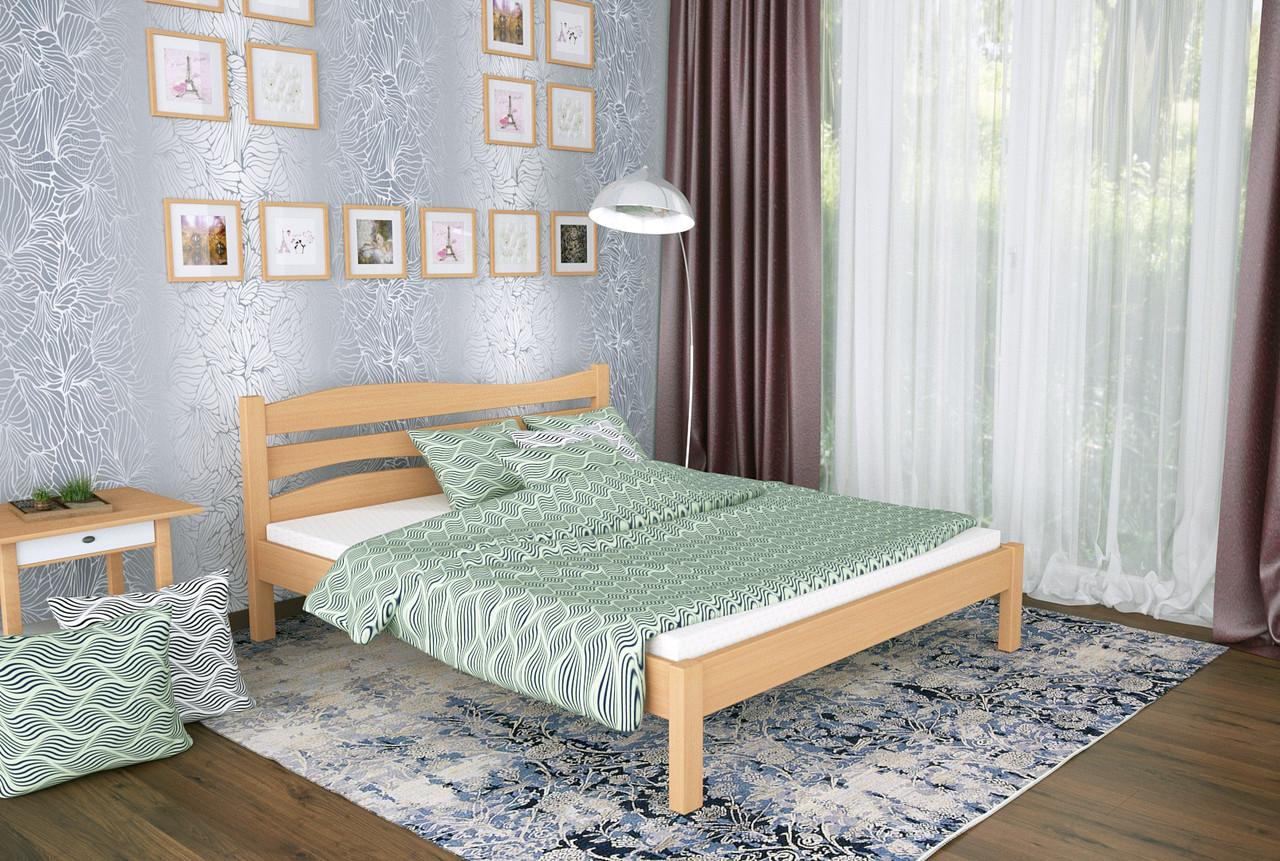 Двуспальная Кровать из дерева сосна 160*190 Посейдон MECANO цвет Светлый орех 18MKR016