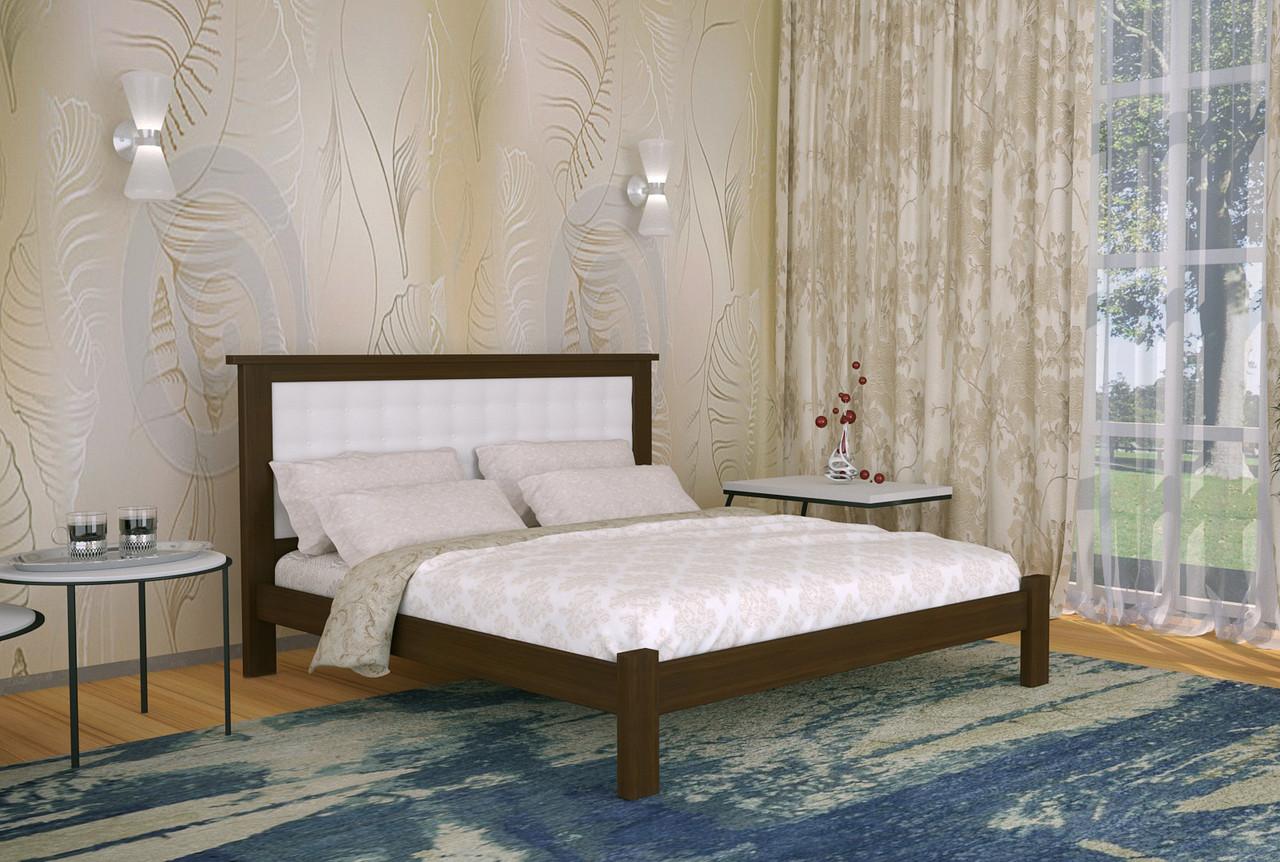 Двуспальная Кровать из дерева сосна 180*200 Дионис MECANO цвет Темный орех 10MKR01