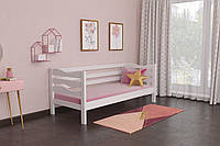 Кровать детская из натурального дерева сосна 90х190 Делиция MECANO цвет Белый 8MKR015