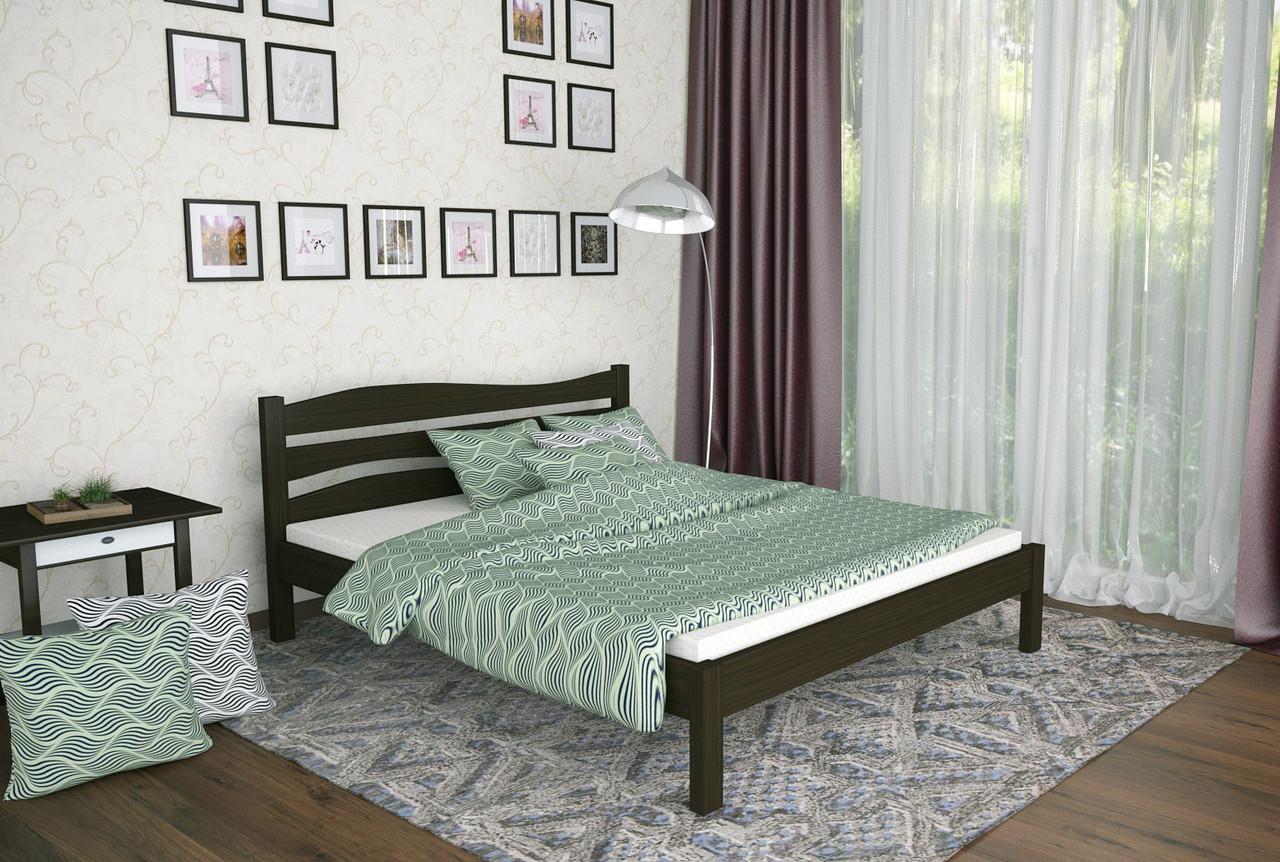 Двуспальная Кровать из дерева сосна 160*190 Посейдон MECANO цвет Венге 18MKR024