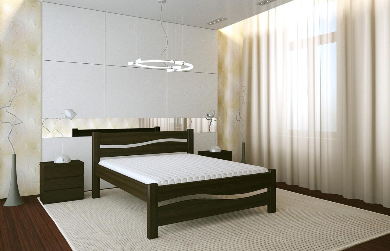 Двуспальная Кровать из дерева сосна 120*190 Волна MECANO цвет Венге 5MKR023