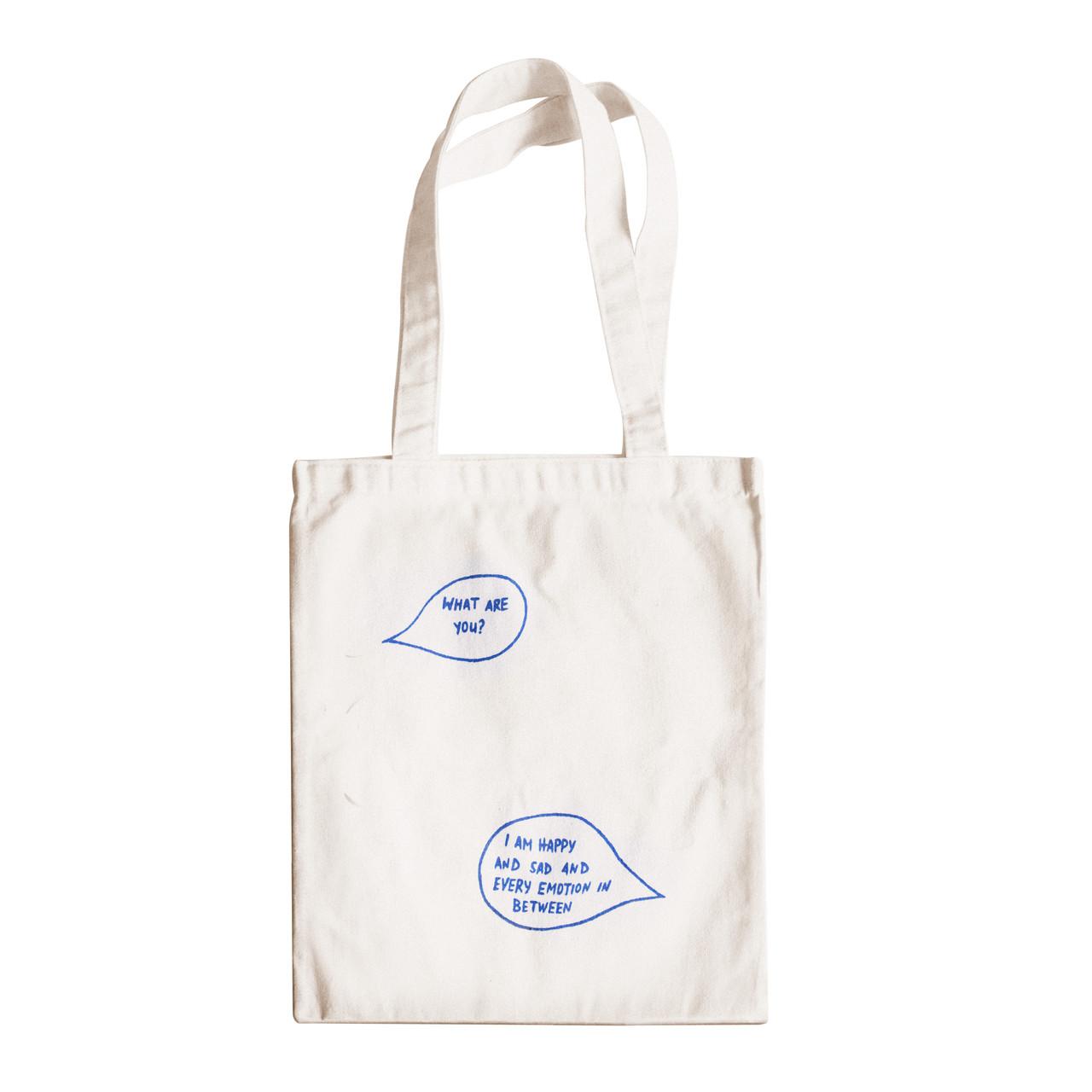 """Трикотажная светлая бежевая сумка для покупок """"эко-шоппер"""" ручной работы с принтом """"Chat"""",двунитка"""