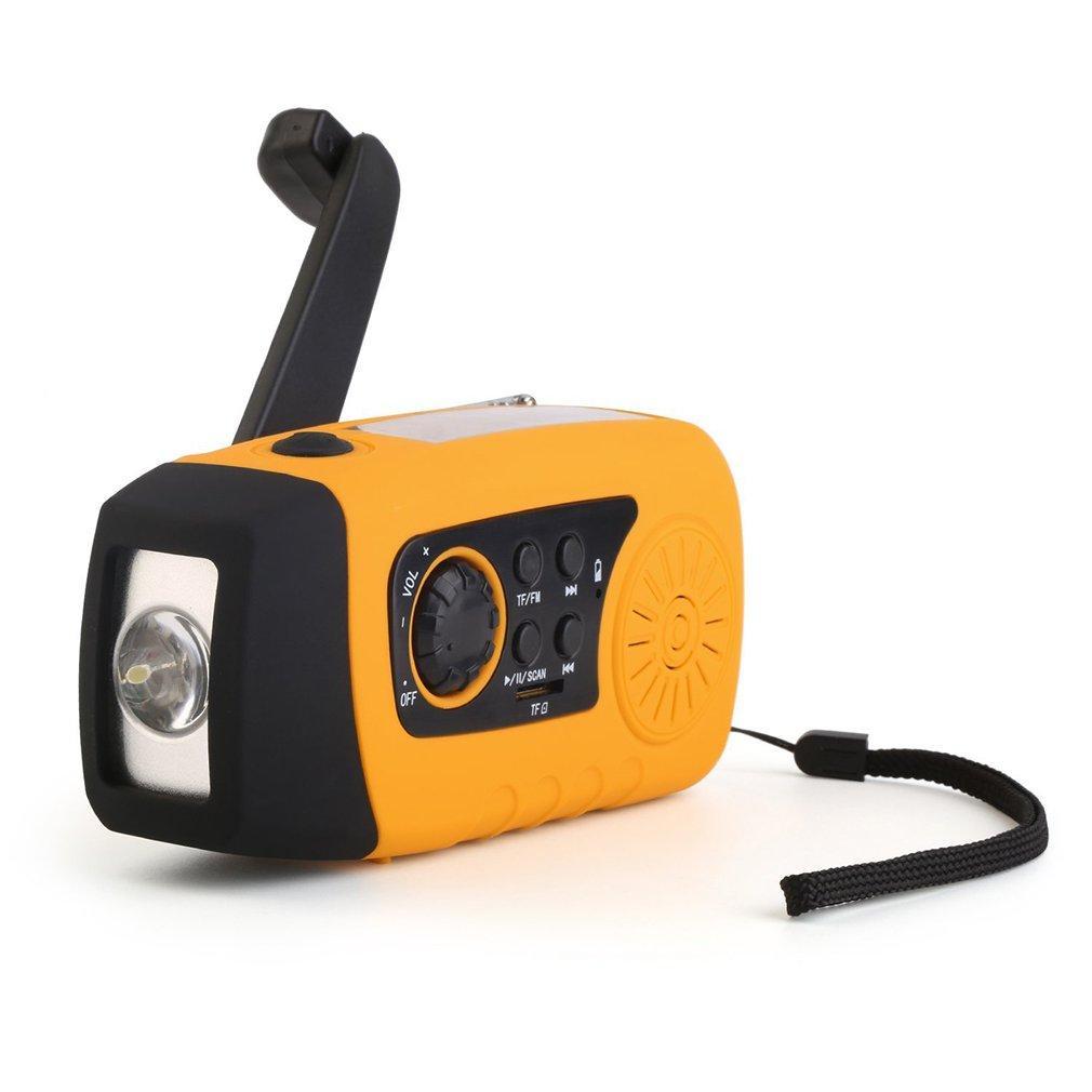 FM-радио  Фонарик зарядное устройство с механической подзарядкой и солнечных батареях