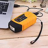 FM-радио  Фонарик зарядное устройство с механической подзарядкой и солнечных батареях, фото 8
