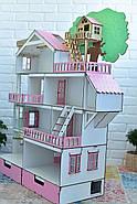 """Большой набор """"Дом Приключений розовый для LOL"""" кукольный домик NestWood с мебелью и аксессуарами, фото 3"""