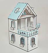 """Кукольный домик NestWood """"МИНИ КОТТЕДЖ"""" мятный для кукол LOL, 5 комнат (этаж 20см), без мебели, фото 2"""