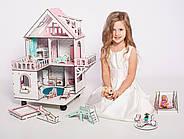 """""""МИНИ КОТТЕДЖ"""" кукольный домик NestWood для LOL на подставке с колесами, без мебели, розовый, фото 4"""