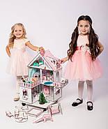 """""""МИНИ КОТТЕДЖ"""" кукольный домик NestWood для LOL на подставке с колесами, без мебели, розовый, фото 6"""