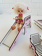 """""""Детская площадка"""" набор кукольной мебели NestWood для LOL, розовый, фото 8"""