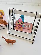 """""""Детская площадка"""" набор кукольной мебели NestWood для LOL, розовый, фото 7"""