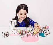 """""""Кухня+ванная"""" набор кукольной мебели NestWood для LOL, розовый, фото 2"""