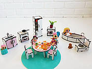 """""""Кухня+ванная"""" набор кукольной мебели NestWood для LOL, розовый, фото 3"""