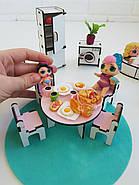 """""""Кухня+ванная"""" набор кукольной мебели NestWood для LOL, розовый, фото 8"""
