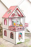 """""""МИНИ КОТТЕДЖ"""" кукольный домик NestWood для LOL, без мебели, розовый, фото 5"""