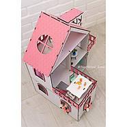 """""""МИНИ КОТТЕДЖ"""" кукольный домик NestWood для LOL, без мебели, розовый, фото 9"""