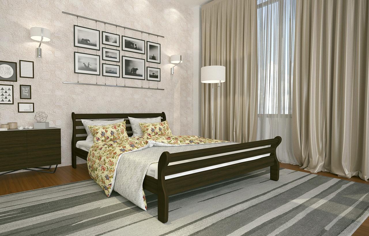 Кровать Двуспальная из дерева сосна 120*190 Аркадия MECANO цвет Венге 3MKR019