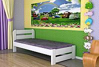 Кровать односпальная из дерева сосна 80*190 Престиж MECANO цвет Белый 20MKR09
