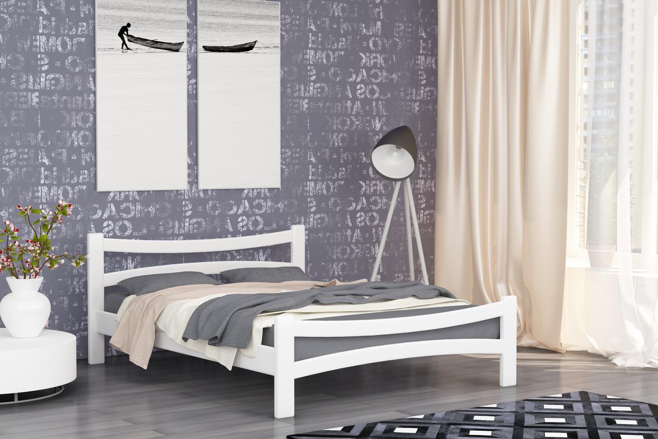 Двуспальная Кровать из дерева сосна 140*200 Деметра MECANO цвет Белый 9MKR022