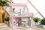 """""""ЛЮКС МИНИ"""" кукольный домик NestWood для Барби, без мебели, розовый, фото 2"""