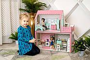 """""""ЛЮКС МИНИ"""" кукольный домик NestWood для Барби, без мебели, розовый, фото 3"""