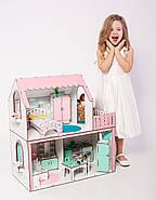 """""""ЛЮКС МИНИ"""" кукольный домик NestWood для Барби, без мебели, розовый, фото 4"""
