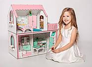"""""""ЛЮКС МИНИ"""" кукольный домик NestWood для Барби, без мебели, розовый, фото 5"""