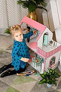 """""""ЛЮКС МИНИ"""" кукольный домик NestWood для Барби, без мебели, розовый, фото 7"""