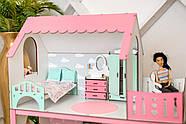 """""""ЛЮКС МИНИ"""" кукольный домик NestWood для Барби, без мебели, розовый, фото 8"""