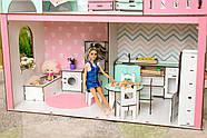 """""""ЛЮКС МИНИ"""" кукольный домик NestWood для Барби, без мебели, розовый, фото 9"""