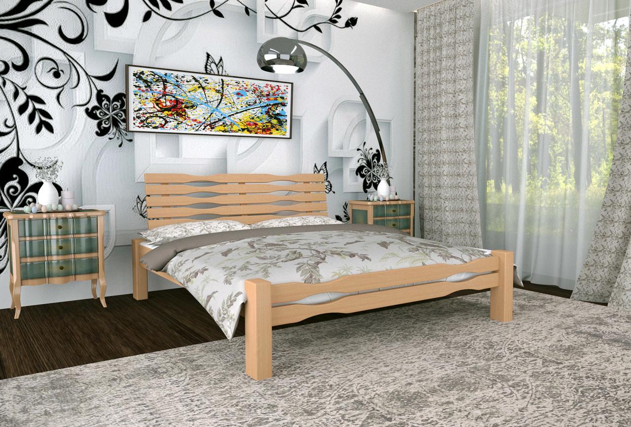 Двуспальная Кровать из дерева сосна 120*200 Веста MECANO цвет Светлый орех 4MKR03