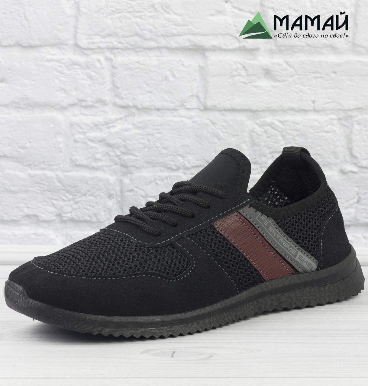 Чоловічі кросівки сітка чорні 41,43р