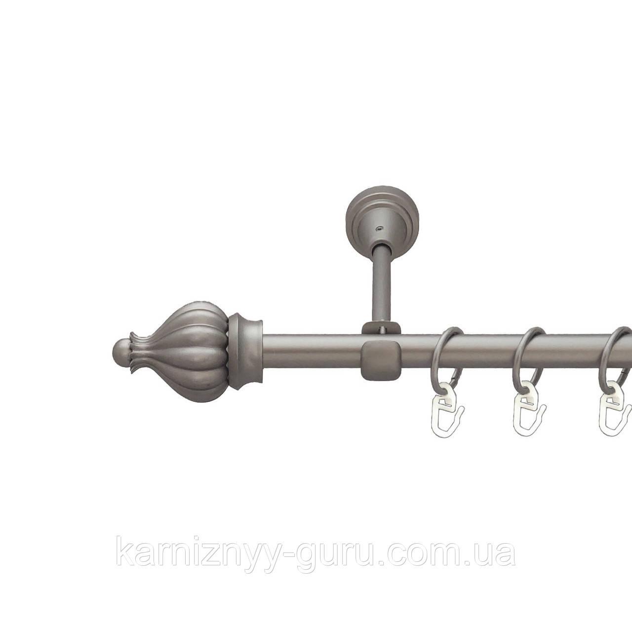 Карниз для штор ø 19 мм, одинарный, наконечник Таджа