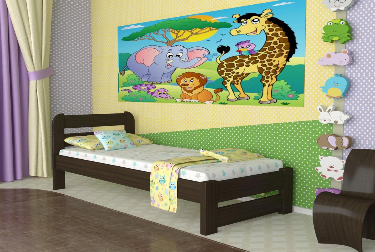 Ліжко односпальне з дерева сосна 90*200 Престиж MECANO колір Венге 20MKR016