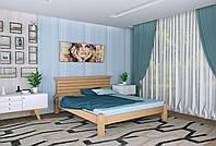 Двуспальная Кровать из дерева сосна 120*200 Гефест MECANO цвет Светлый орех 7MKR014