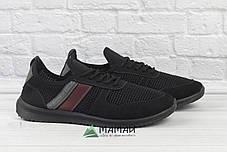 Чоловічі кросівки сітка чорні 41,43р, фото 3