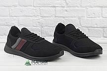 Чоловічі кросівки сітка чорні 41,43р, фото 2