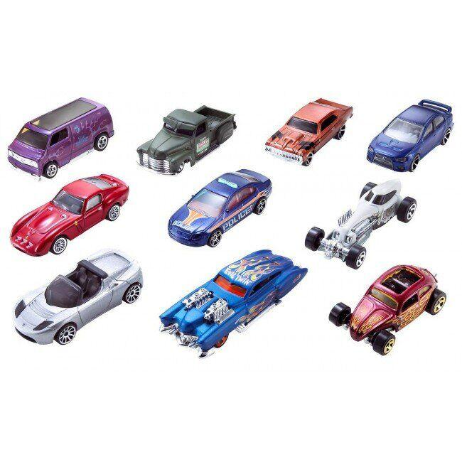 Автомобиль базовый Hot Wheels 10 шт.