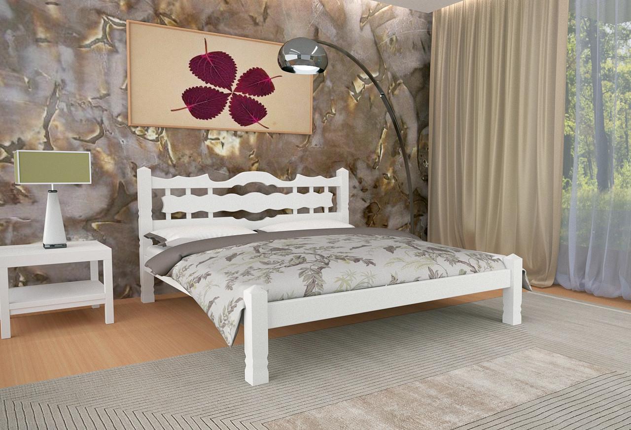 Кровать Двуспальная из дерева сосна 160*200 Арис MECANO цвет Белый 2MKR018